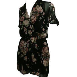 Rue21 Black Floral Romper